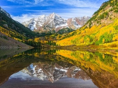 CO Maroon Bells - Lake & Peaks
