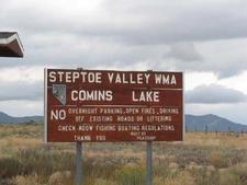 Comins Lake Sign