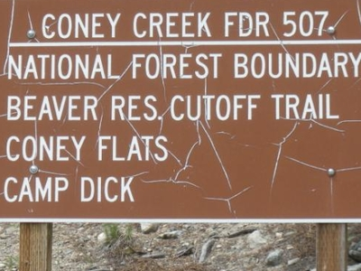 Coney Flats Trailhead Sign