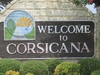 Corsicana Welcome Sign
