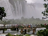 Crowds At Iguazu Falls Viewing Platform
