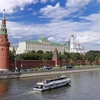 Cruising Along The Kremlin In Moscow