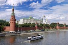 Cruising Along The Kremlin In Moscow