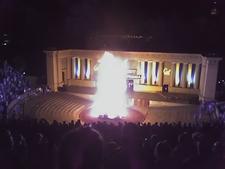 Cal Bonfire Hearst Greek Theatre
