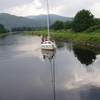 A Sailboat On The Caledonian Canal