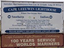 Cape Leeuwin Sign