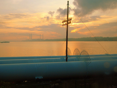 The Water Pipeline At The Causeway