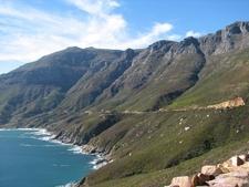 Chapman's Peak Drive Leading Down To Hout Bay