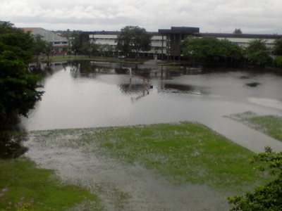 A Flood Engulfing The University Of Nueva Caceres