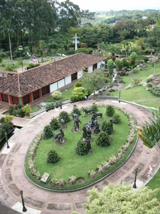 Colombian National Coffee Park Statues