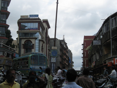 Crowded  Margao  Intersection