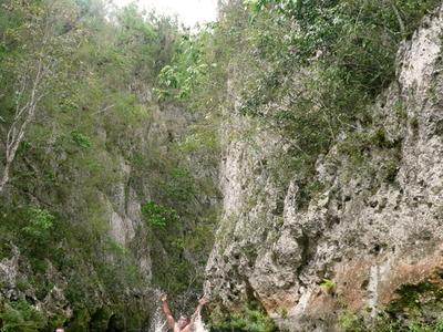 Cuba  Swimming At  Campismo  Boqueron  National  Natural  Reserv