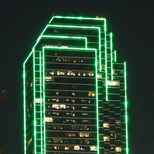 Dallas Bank Of America Plaza Top Night