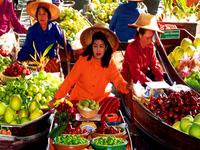 Floating Market at Damnoensaduak