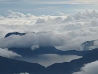 Danau Gunung Tujuh Dari Puncak Merapi