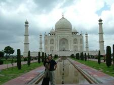 David And Ann At Taj Mahal