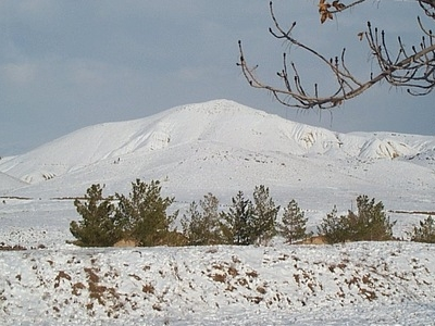 Snow Covered Hill Near Hanna Urak