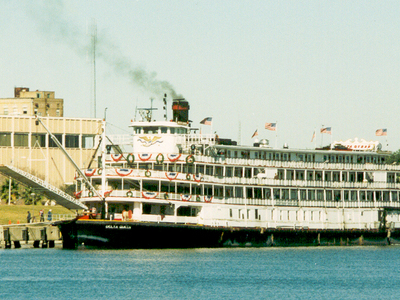 Delta Queen Moored In Front Of City Hall.