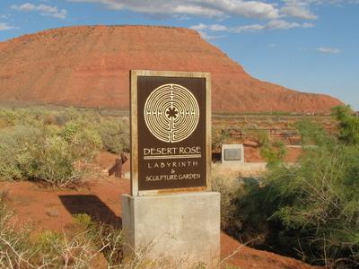 Desert  Rose  Labyrinth  Sign