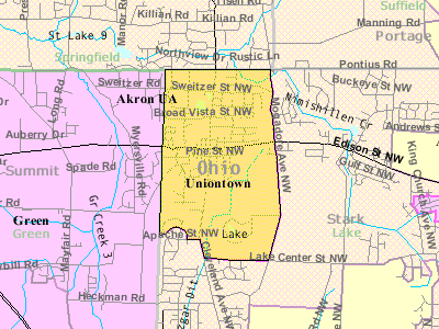 Detailed Map Of Uniontown