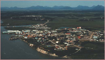 Dillingham Alaska With Wood Tikchik Mountains In The Background
