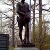 Doughboy Statue At Entrance To The Park