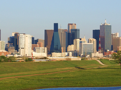 Downtown  Dallas From The  Trinity  River