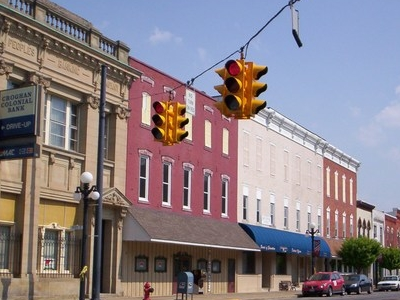 Downtown Clyde Ohio On South Main Street.