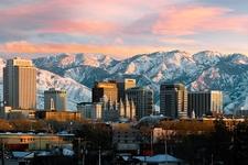 Downtown Salt Lake City UT & Wasatch Range