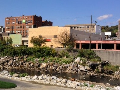 Downtown Fitchburg As Seen From Riverfront Park