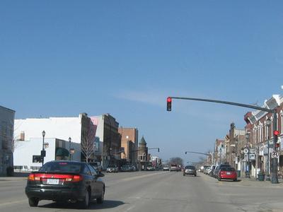 Downtown Osage Iowa.