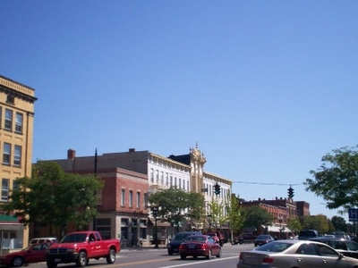 Downtown Ravenna Along Main Street