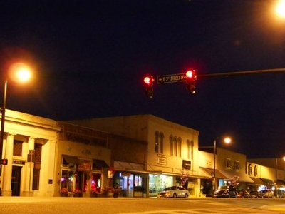 Downtown Sylacauga By Night
