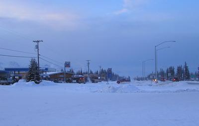 Downtown  Tok  Alaska