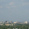 Downtown Topeka Skyline From Burnetts Mound