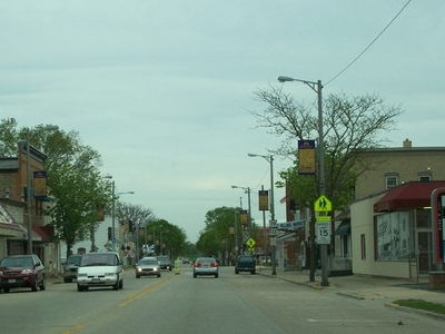 Downtown Waunakee On Wisconsin Highway 19