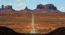 Driving Into Monument Valley AZ