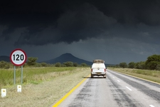 Driving Into Namibia