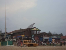 Calangute Beach - Stalls & Restaurant