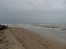 Baga Beach During High Tide