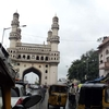 Traffic At Osmania Bazaar / Laad Bazaar