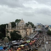 Charminar-Shah Ali Bunda Busy Street