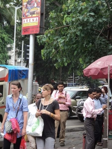 DN Road - Stalls & People - Mumbai