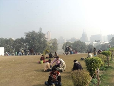 Central Park Visitors At Connaught Place