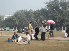 Resting Visitors - Central Park At Connaught Place