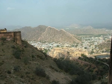 Jaigarh Fort Walls With Bordering Settlement
