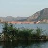 Island Within Man Sagar Lake