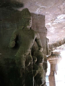 Elephanta Cave Standing Structure