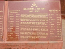 Plaque With Info About Indian Army