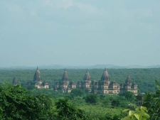 Orchha Monuments Distance View
